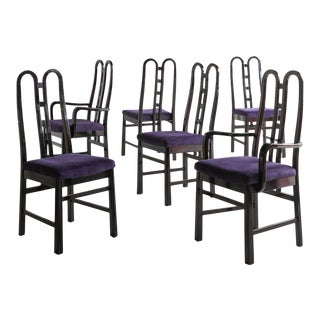 A Set of 6 Post Modern Dining Chairs by Aldo Rossi, 1980s For Sale