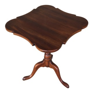 Statton Old Towne Queen Anne Style Solid Cherry Candle Table For Sale