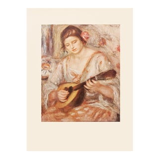 "1950s Auguste Renoir ""Girl With a Mandolin"" First Edition Photogravure For Sale"
