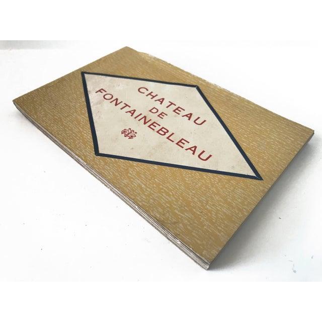French Chateau De Fontainbleau Souvenir Postcard Book For Sale - Image 4 of 11