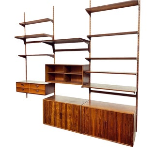 Kai Kristiansen for Fm Three Bay Rosewood Wall Unit For Sale