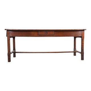19th Century French Walnut Farmhouse Table For Sale