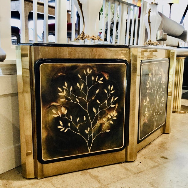 "The ""Tree of Life"" credenza designed for Mastercraft by Bernhard Rohne is a great way to add storage and style to your..."