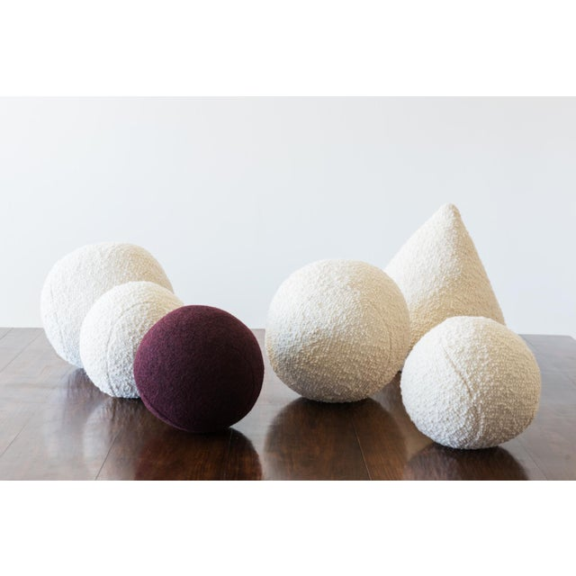 Modern Architectural Pillows by Hunt Modern in Textural Wools For Sale - Image 3 of 10
