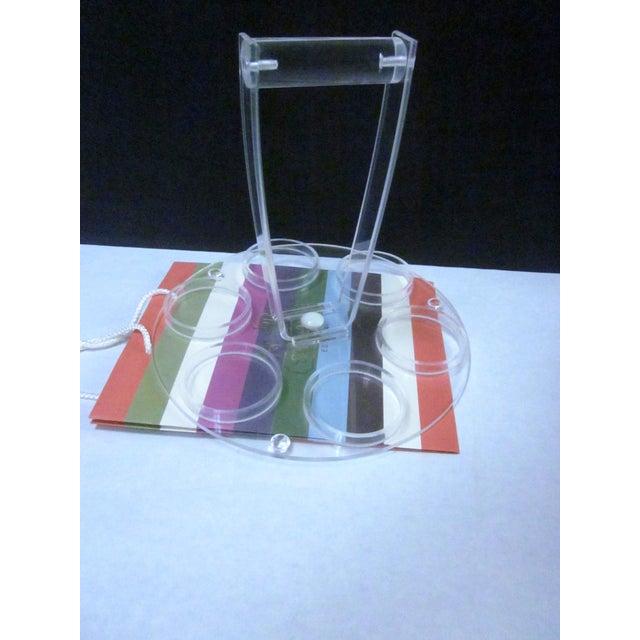 Lucite Modernist Cocktail Bar Tray Set - Image 9 of 11