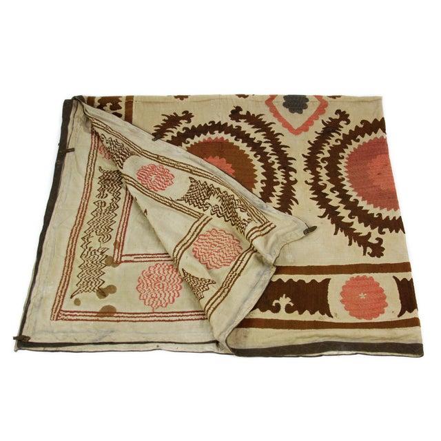 Antique Suzani Throw - Image 1 of 7