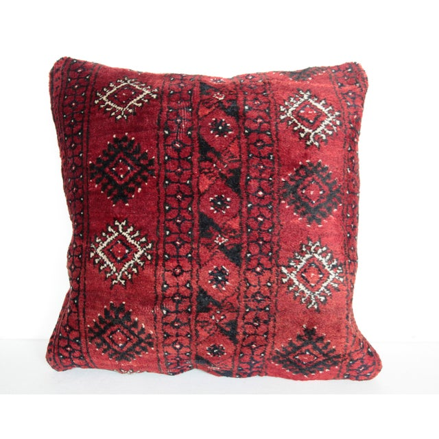 """This is beautiful Carpet pillow, it""""s made from Old Turkoman rug. it has been soft washing before be come a pillow.The..."""