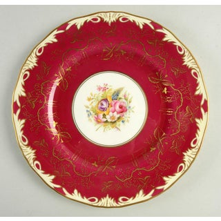 1930s Royal Worcester Elegant Red Dinner Plate - Set of 12 Preview