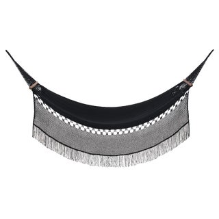 Reina Hammock in Charcoal Black With Walnut Rods For Sale