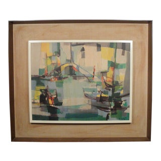 Mid Century Original Signed Print by Marcel Mouly For Sale