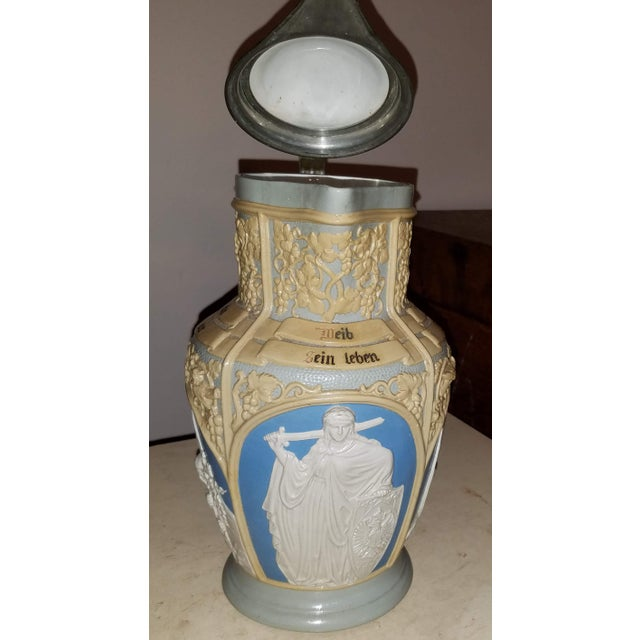 We recently came across this fabulous stein at an estate sale in the Catskills. It is marked Villeroy & Boch Mettlach on...