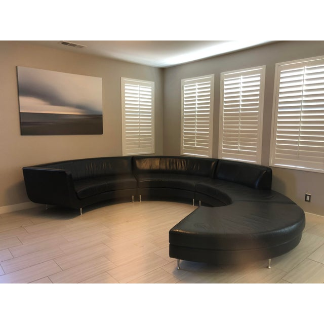 2000s Contemporary American Leather Menlo Park Sectional For Sale - Image 5 of 13