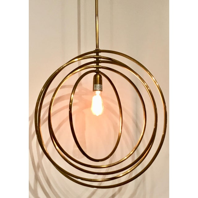 Modern Arteriors Quintana Antique Brass Chandelier For Sale - Image 3 of 6