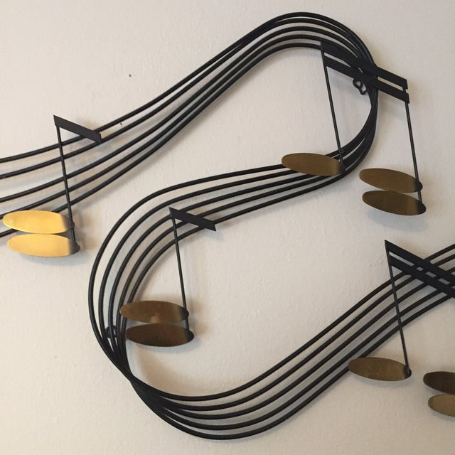 C Jere Music Motif Wall Sculpture Signed For Sale - Image 6 of 7