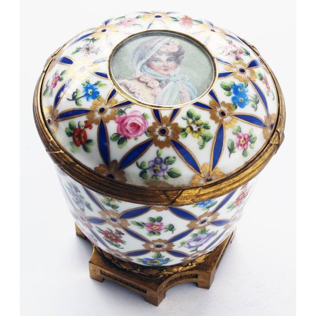 Belle Epoque Sevres Porcelain Covered Jar with Gilt Bronze Mounts For Sale - Image 3 of 5