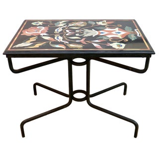 Vintage Pietra Dura Marble Topped Table
