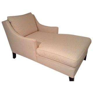Crate & Barrel Chaise Lounge For Sale