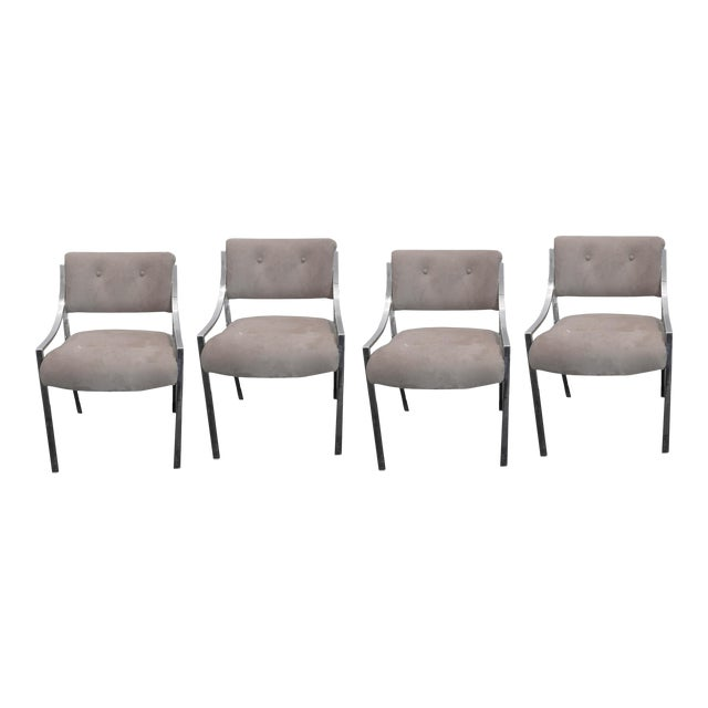 4 Milo Baughman Dining Chairs for Dillingham For Sale