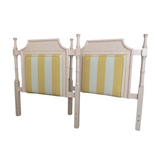 1970s Chippendale Palm Beach Regency Twin Pagoda Headboards - a Pair For Sale