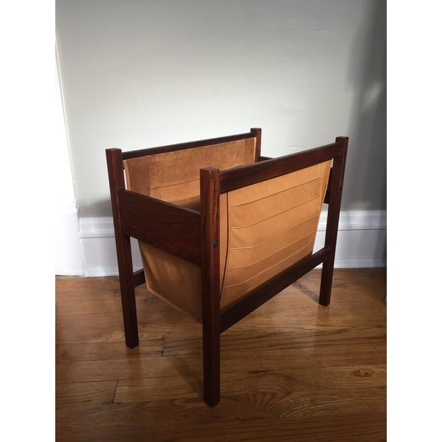 Danish Rosewood & Leather Magazine Rack - Image 9 of 11