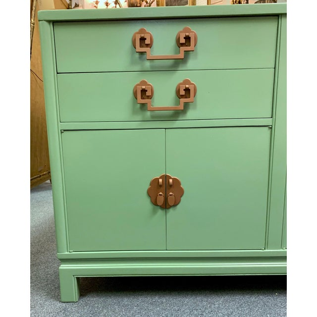 Asian 1960s Landstrom Furniture Co. Chinese Chippendale Sideboard For Sale - Image 3 of 13