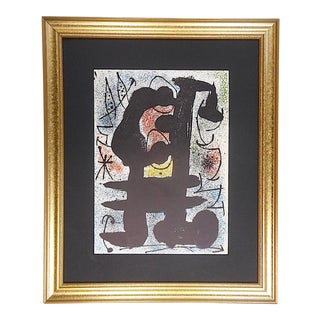 Vintage Mid 20th C. Ltd. Ed Lithograph From Derriere Le Miroir No. 164-165-1967-Joan Miro For Sale