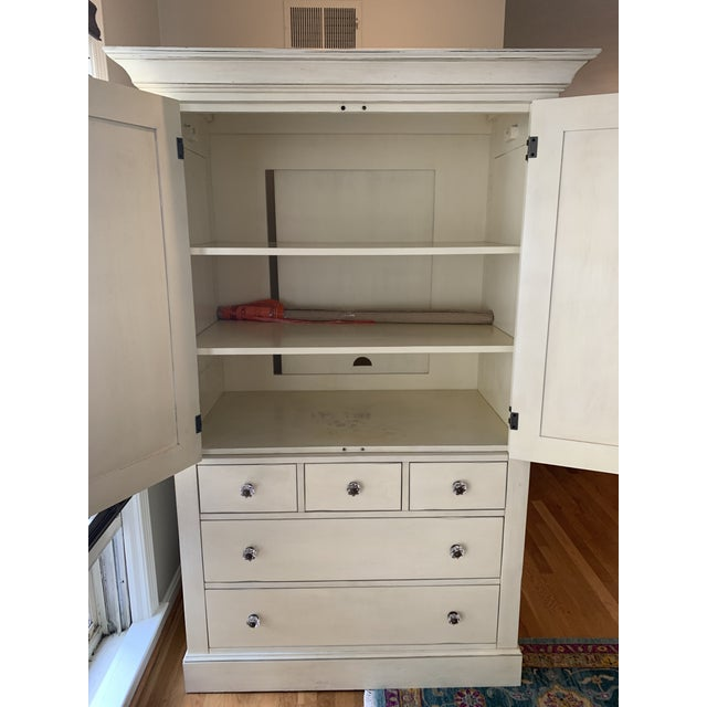Pottery Barn Pottery Barn Charlotte Armoire in Antique White For Sale - Image 4 of 10