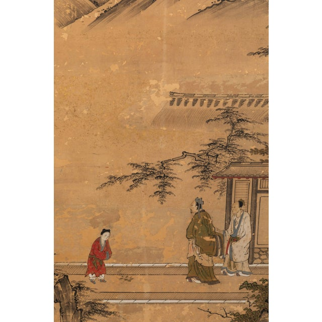 Antique Japanese Screen Panels For Sale - Image 9 of 12