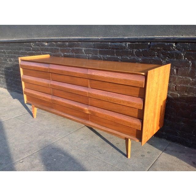 Mid Century Walnut Lane Furniture Dresser - Image 8 of 8