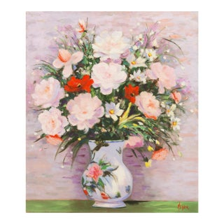 'Still Life in Lilac and Rose', American School, 1980s For Sale