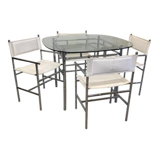 Chrome Faux Bamboo Dinette Set