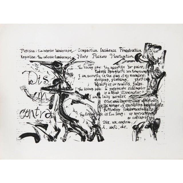 Artist: Dimitri Petrov, American (1919 - 1986). Title: Dis, Un, Contra. Year: 1976. Medium: Lithograph, signed and...