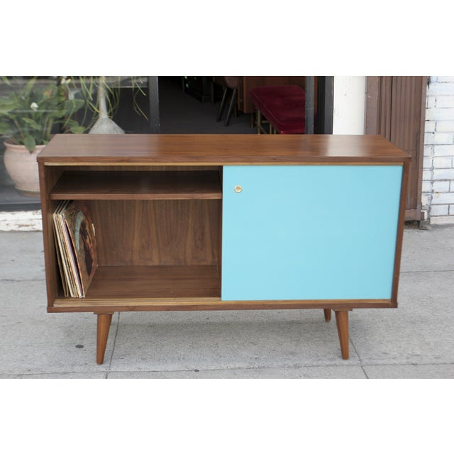 Brown Mid-Century Style Two Door Credenza For Sale - Image 8 of 10