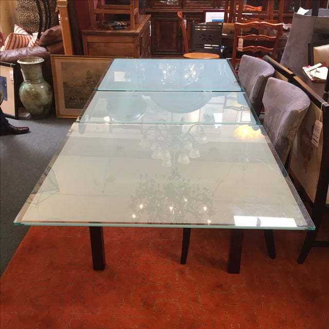 Calligaris Sandblasted Glass Extension Table - Image 2 of 9