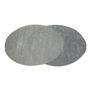 Overlapping Ovals 9' x 12' Rug - Gray For Sale