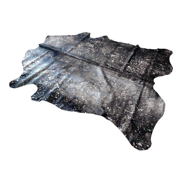 Gambrell Renard Silver & Black Cowhide Rug - 6′ × 7′ - Image 1 of 3