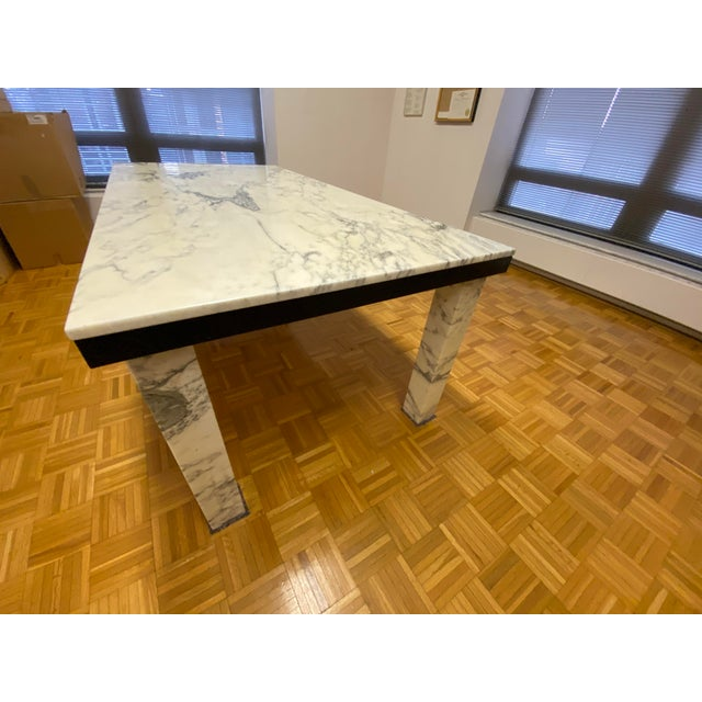1970s Vintage Calacatta Marble Dining Table For Sale - Image 4 of 13
