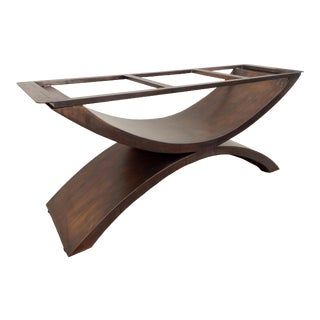 Metal Double Arch Table Base Handmade by Invictus Steelworks For Sale