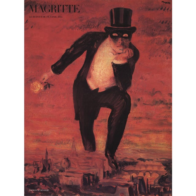 """1989 Rene Magritte """"The Return of the Flame"""" Poster. Artist: Rene Magritte Title: The Return of the Flame Year: 1989..."""