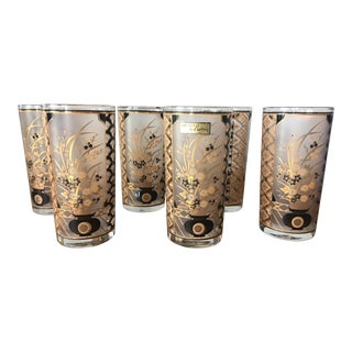 Vintage Culver Japanese Cocktail Glasses - Set of 6 For Sale