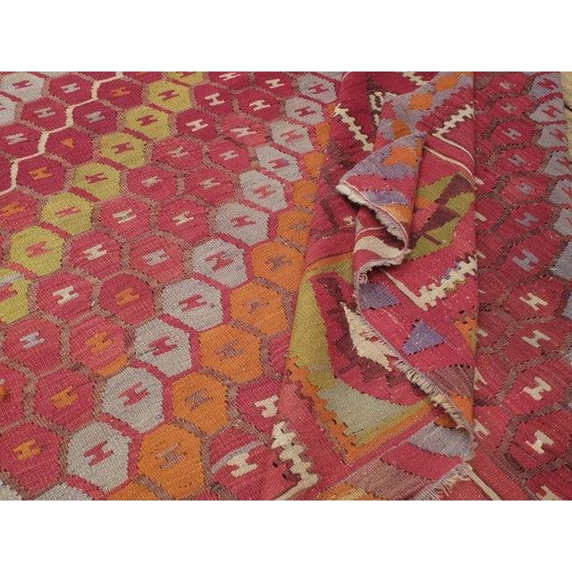 """Honeycomb"" Sharkisla Kilim For Sale - Image 10 of 10"