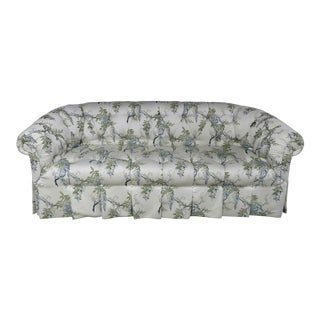 Century Furniture Traditional Rolled Arm Button Tufted Sofa For Sale