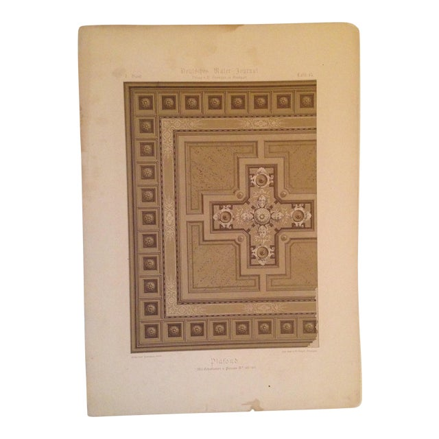 German Architectural Decorative Deutsches Maler Journal Chromolithograph - Image 1 of 4
