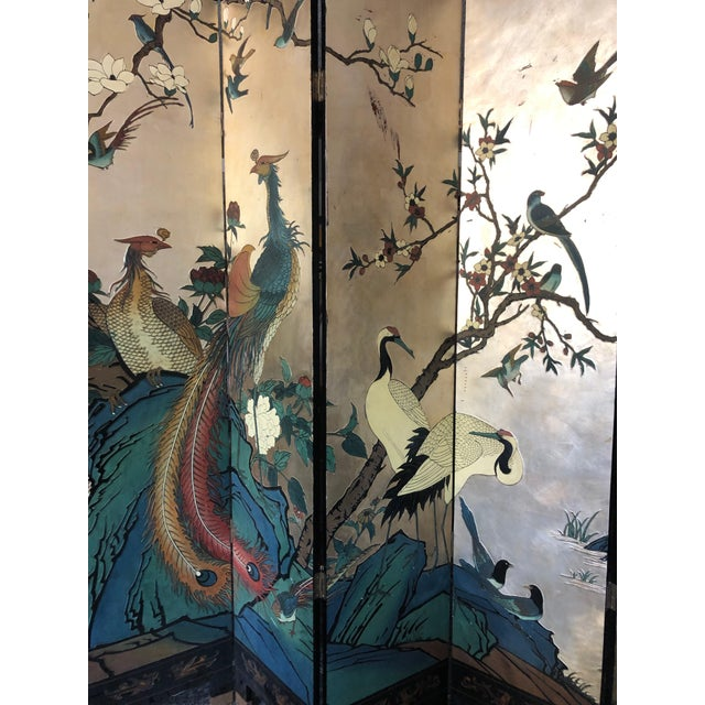 Early 20th Century Early 20th Century 8-Panel Coromandel Screen For Sale - Image 5 of 13
