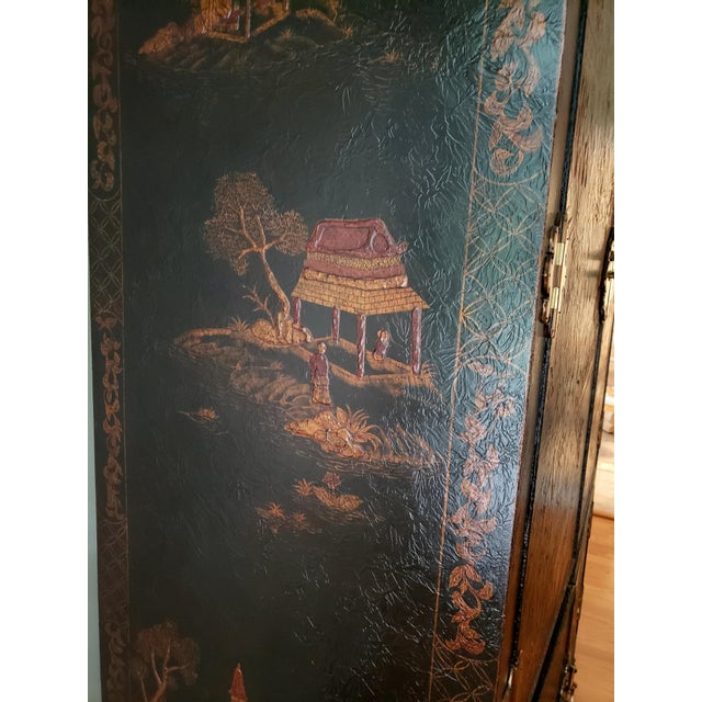 Maitland Smith Chinoiserie Entertainment Cabinet For Sale - Image 9 of 12