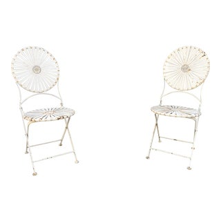 1950s Vintage French Patio Salon Chairs- a Pair For Sale