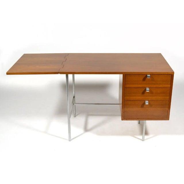Herman Miller George Nelson Model 4754 Drop Leaf Desk by Herman Miller For Sale - Image 4 of 10