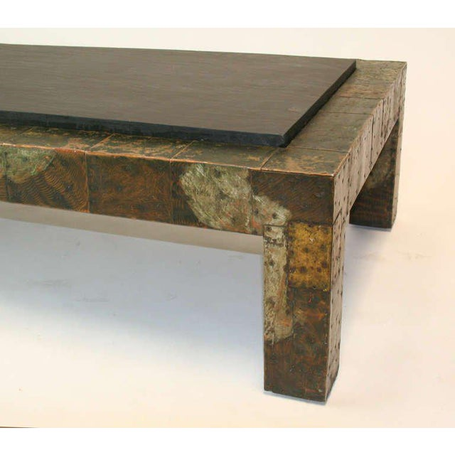Mid-Century Modern Large Paul Evans Patchwork and Slate Coffee Table For Sale - Image 3 of 5