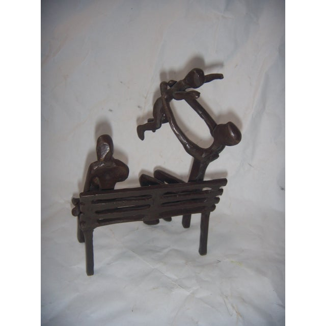 Family on Bench Bronze Sculpture - Image 5 of 8