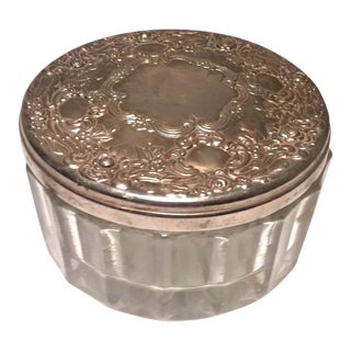 International Silver Face Powder Jar For Sale